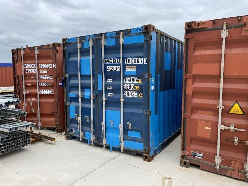 40' Modified Open Top Shipping Container MEBU 190697.3