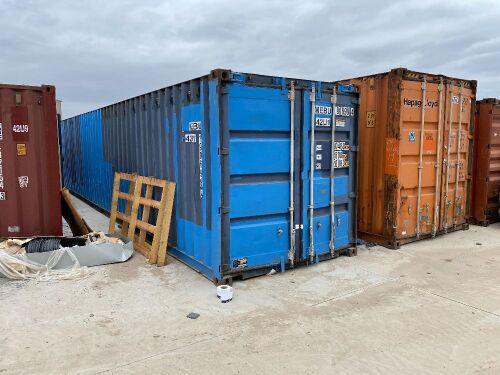 40' Modified Open Top Shipping Container MEBU 190699.4