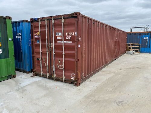 40' Modified Open Top Shipping Container LGEU 432154.3