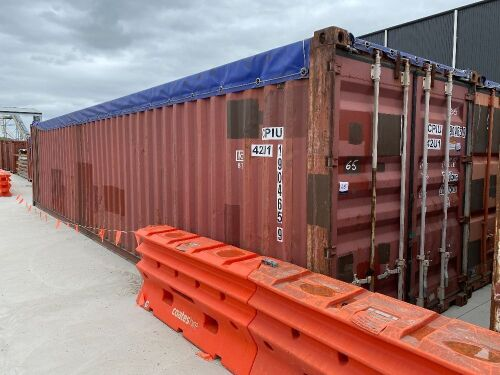 40' Modified Open Top Shipping Container CPIU 190465.9