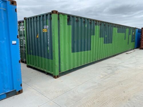 40' Modified Open Top Shipping Container NEBU 190690.5