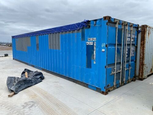 40' Modified Open Top Shipping Container MEBU 190700.7