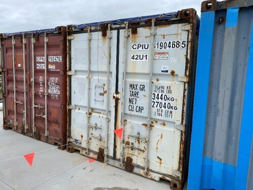 40' Open Top Shipping Container CPIU 1904685