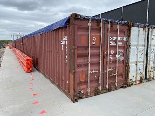 40' Modified Open Top Shipping Container CPIU 190479.3