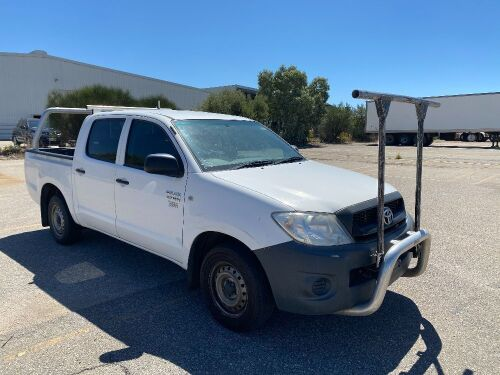 2010 Toyota Hilux Work Mate 2WD Dual Cab Utility *RESERVE MET*