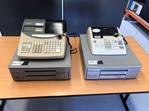 Quantity of 2 x Casio Electronic Cash Registers