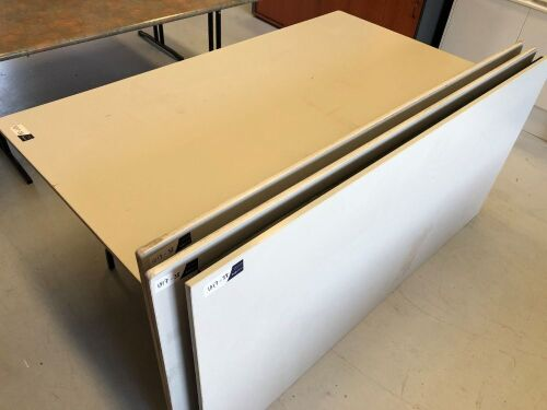 Quantity of 4 x Foldable Tables