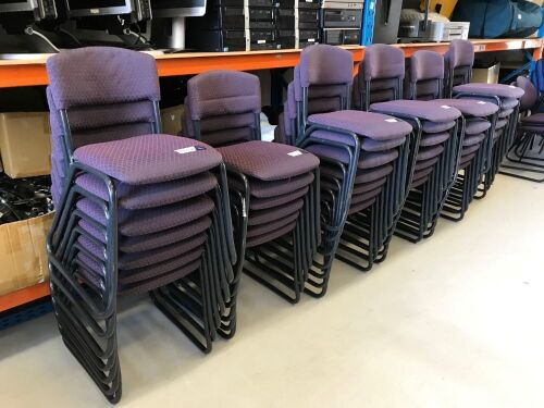 Quantity of 40 x Fabric Chairs
