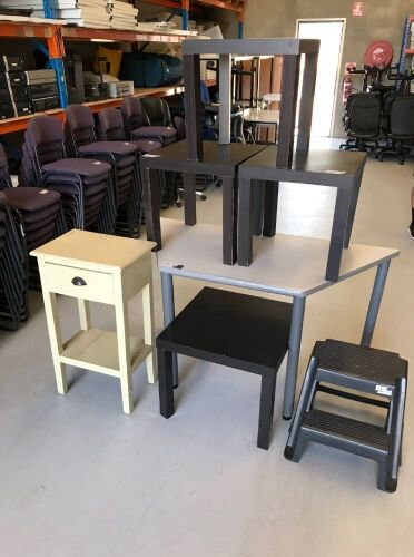 Quantity of assorted office furniture