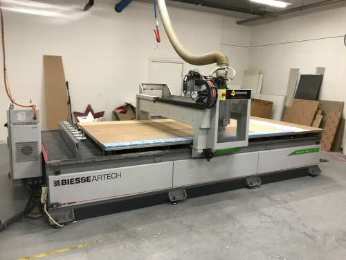 2010 Biesse CNC Router, Model: Klever 18, 3800 x 1800mm table