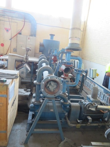 Vacuum System with 3 x 30Kw Western Electric Motors