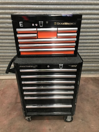 Multi Drawer Tool Box System, 7 drawer box locked with 8 drawer tool box on top, 700 x 500 x 1500mm H