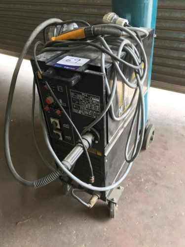 Unimig Welder, Model: 340, Serial No: 15441, 3 Phase plug in, with hose and lead