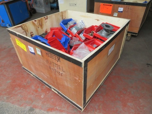 Assorted Hardware and Fixings, contents of timber crate, 1150 x 1150 x 680mm H