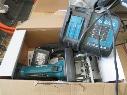 Makita Cordless Plate Joiner, Model: DPJ180 with battery and charger