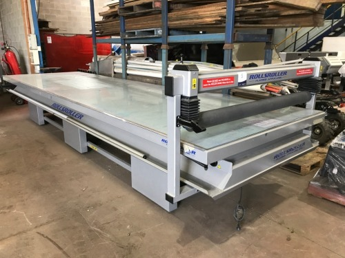 Rolls Roller Laminating Table, Model: Flatbed applicator 605, Table 6000mm x 1650mm