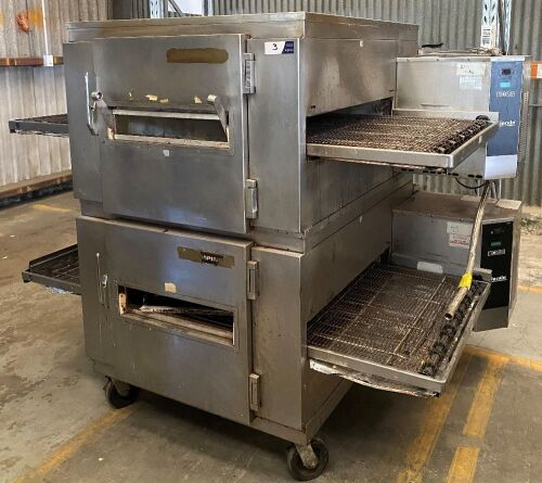 Lincoln Twin Deck Conveyor Pizza Oven, Model: 450-V00-B-B1868