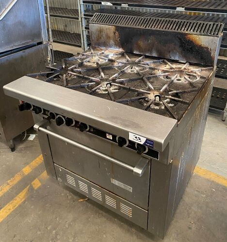 Garland Commercial 6 Burner Stove with Static Oven