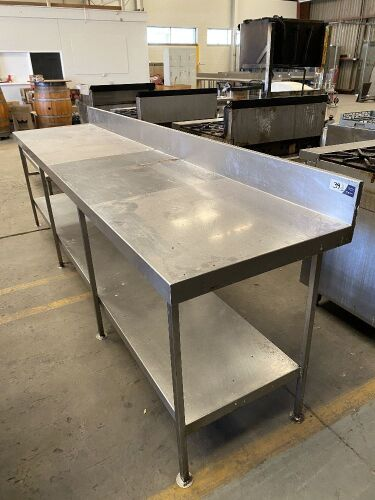 Preparation Bench, stainless steel