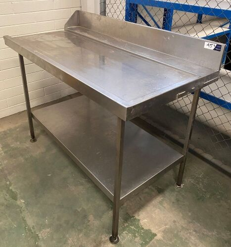 Two assorted stainless steel benches