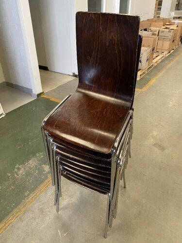 Quantity of 10 Cafe Dining Chairs