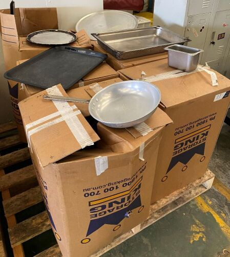 Large quantity of assorted commercial cookware