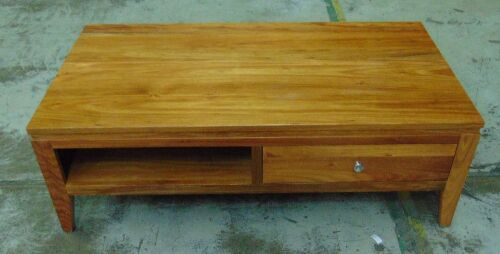 2 Drawer Timber coffee Table - Dims 1300W x 700D x 430H mm