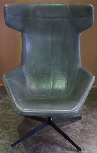 Alfredo Haberli Leather Chair for Moroso