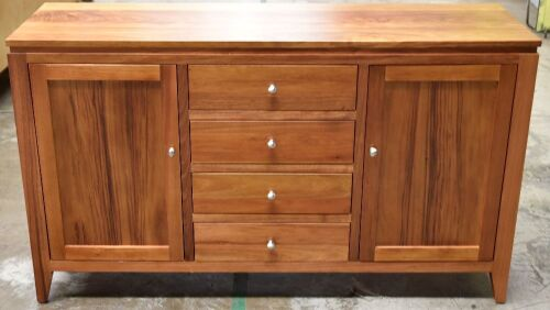 4 Drawer/2 Door Timber Buffet - Dims 1560W x 480D x 910H mm