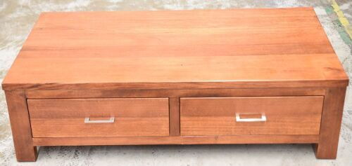 2 Drawer Timber Coffee Table - Dims 1350W x 740D x 390H mm