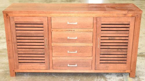 4 Drawer/2 Door Timber Buffet - Dims 1690W x 500D x 910H mm