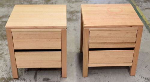Pair of 2 Drawer Timber bedside tables - Dims 500W x 450D x 560H mm