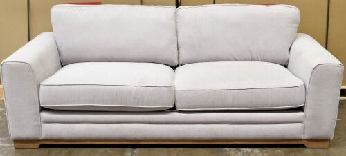2 Seater Light Grey Fabric Sofa - Dimensions 1840W x 890D x 910Hmm.