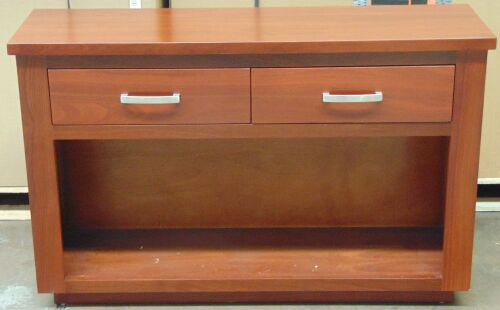 2 Drawer Timber Buffet - Dimensions 1270W x 400D x 800H mm.
