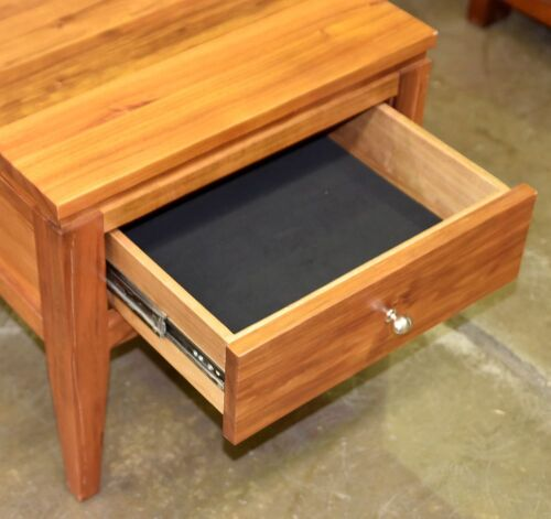 Single Drawer Bedside Table - Dimensions 570W x 570D x 520H mm