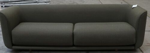 Fat Tulip Sofa - Olive / walnut