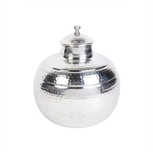 Capri Hammered Aluminium Jar, Medium 35cm Dia x 37cm H