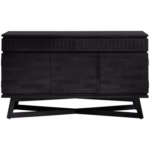 Baila Boutique Mango Wood 3 Door 2 Drawer Sideboard, 140cm