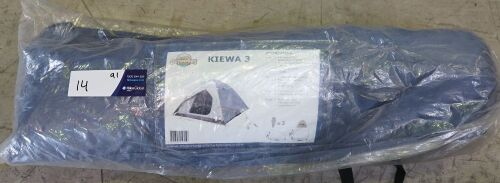 Outdoors Unlimited - Kiewa 3 Dome Tent 205x205x130c m In Carry Bag