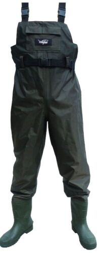 Ezy-Fit Wildfish Tough Fish Waders Size 9 - Condition New - Cartain Damage Colour Green