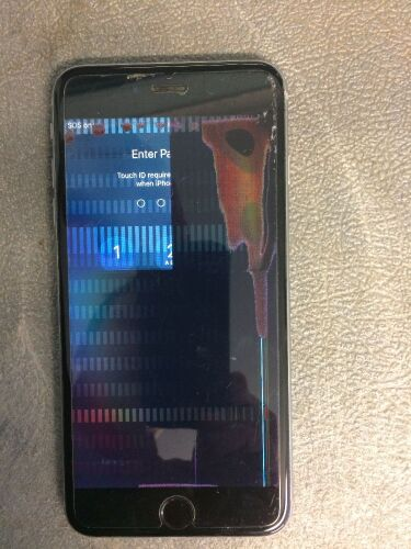 iPhone 7S (locked and screen damaged) no charger.