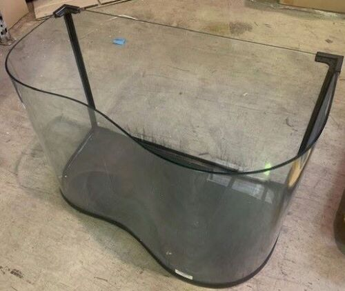 one B shaped large fish tank 82 L x 55 H cm