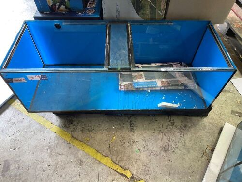 One Large Fishtank, 1202x405x400 with glass lids