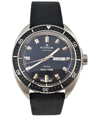 ERV $2800 - Gents day/date water resistant Edox Automatic Delfin watch.
