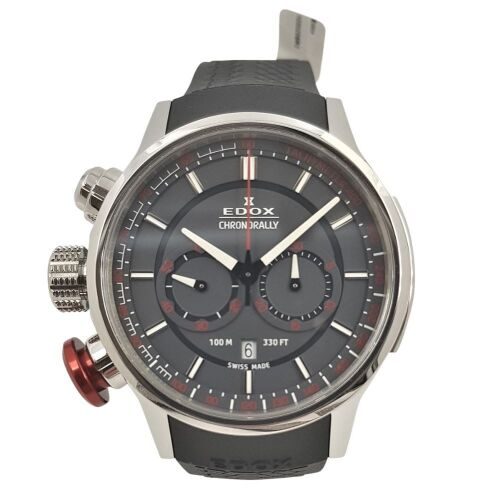 ERV $2250 - Gents chronograph water resistant with date window a 6 o clock Edox Chronorally watch