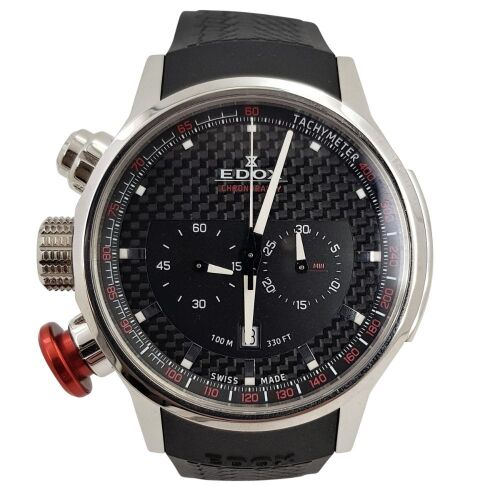 ERV $2250 - Chronograph date water resistant Edox Chronorally watch.