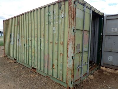 20ft Container with spares for Trenching Machine