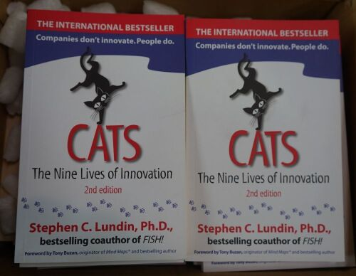 Box of 30 x Cats, The Nine Lives of Inovation novels