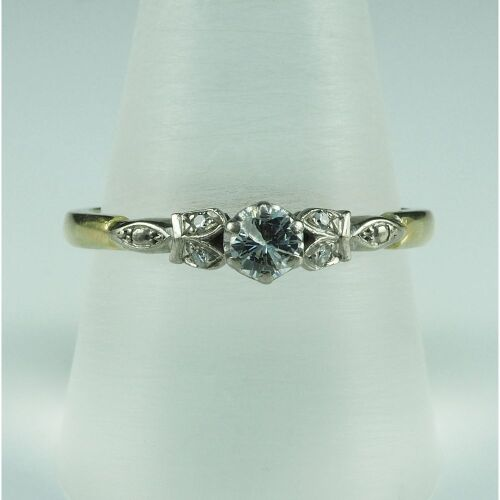 (DO NOT LOT) 18ct yellow & white gold diamond set ring