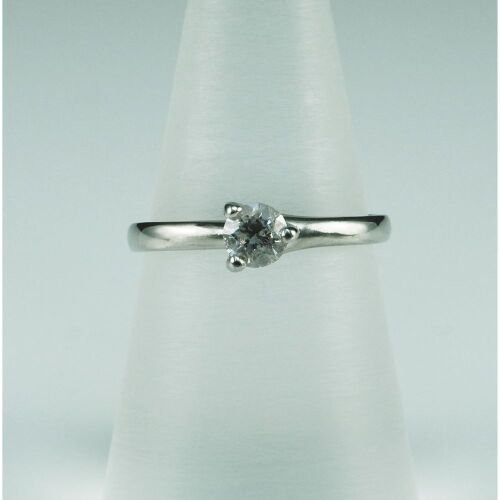 (DO NOT LOT) Platinum diamond set engagement ring